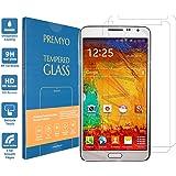 PREMYO 2 Piezas Compatible con Cristal Templado Samsung Galaxy Note 3