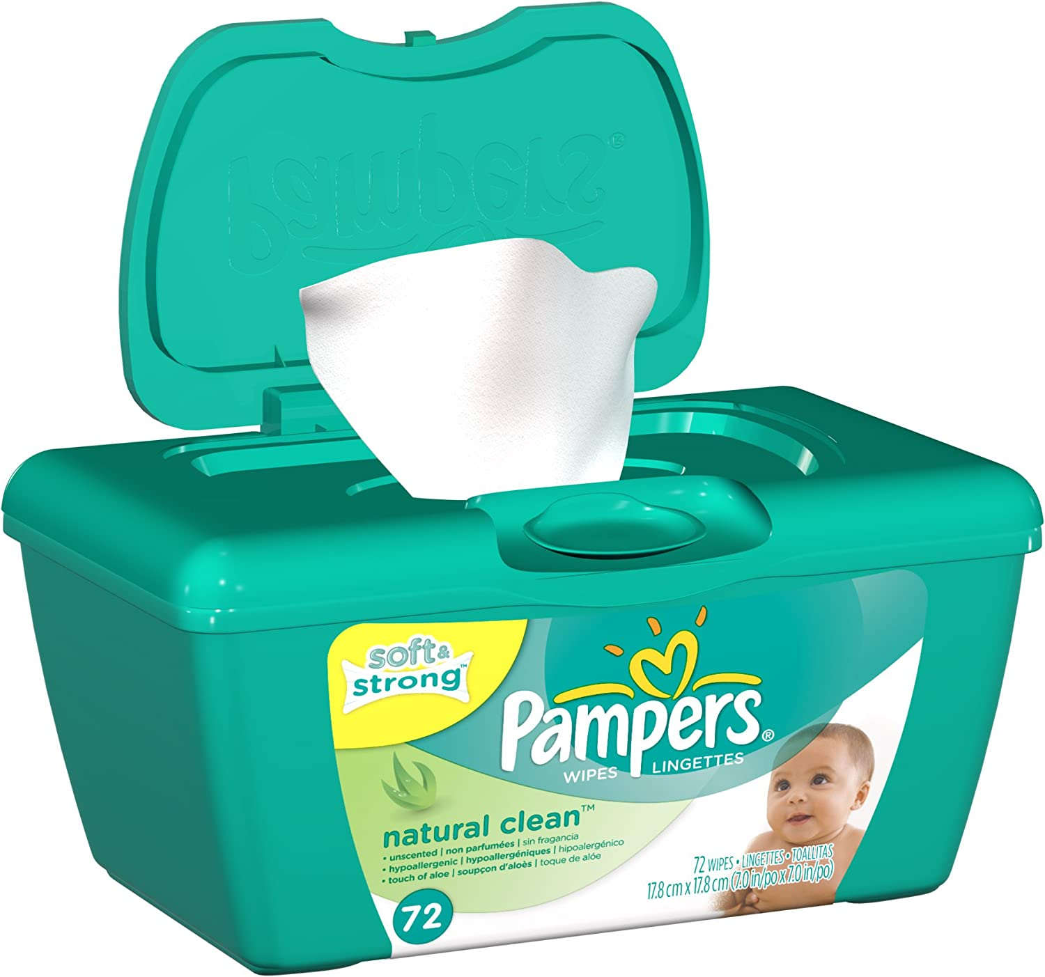 Pampers Complete Clean Unscented Wipes 72 ea