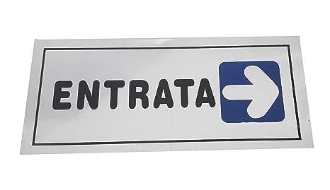 takestop Cartel Adhesivo de Metal Entrada Flecha a Derecha ...