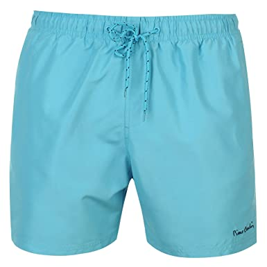Pierre Cardin Men's Swimming Shorts Blue Medium: Amazon