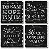Love Conquers All Highland Graphics Tumbled Tile Coasters set of 4