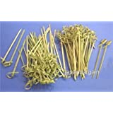 JapanBargain Bamboo Cocktail Picks Skewer with Knotted Ends, 300 Piece
