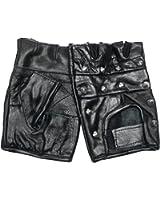 MFH Hommes Leather Studded Cycle Gants Noir
