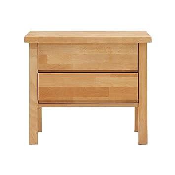 Nachttisch Buche amazon de dico massivholz nachttisch beistelltisch komforthöhe