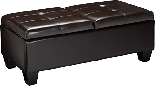 Christopher Knight Home Merrill Double Opening Leather Storage Ottoman