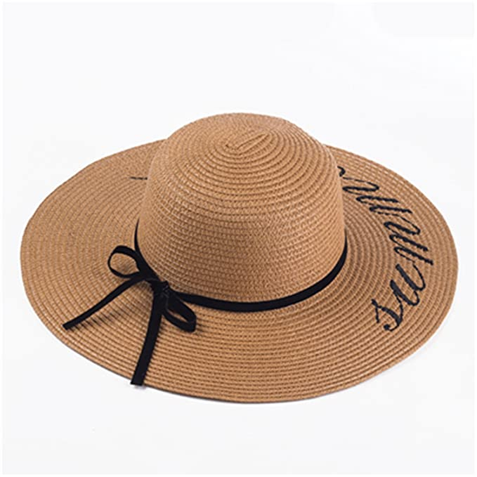 e451af4f020c8 Leo Lamb New Summer Women Sun Hat Ladies Wide Brim Straw Hats Outdoor Foldable  Beach Panama