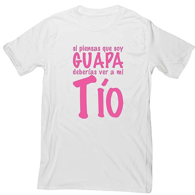 HippoWarehouse Si Piensas que soy guapa Deberías ver a mi Tío camiseta manga corta unisex: Amazon.es: Ropa y accesorios