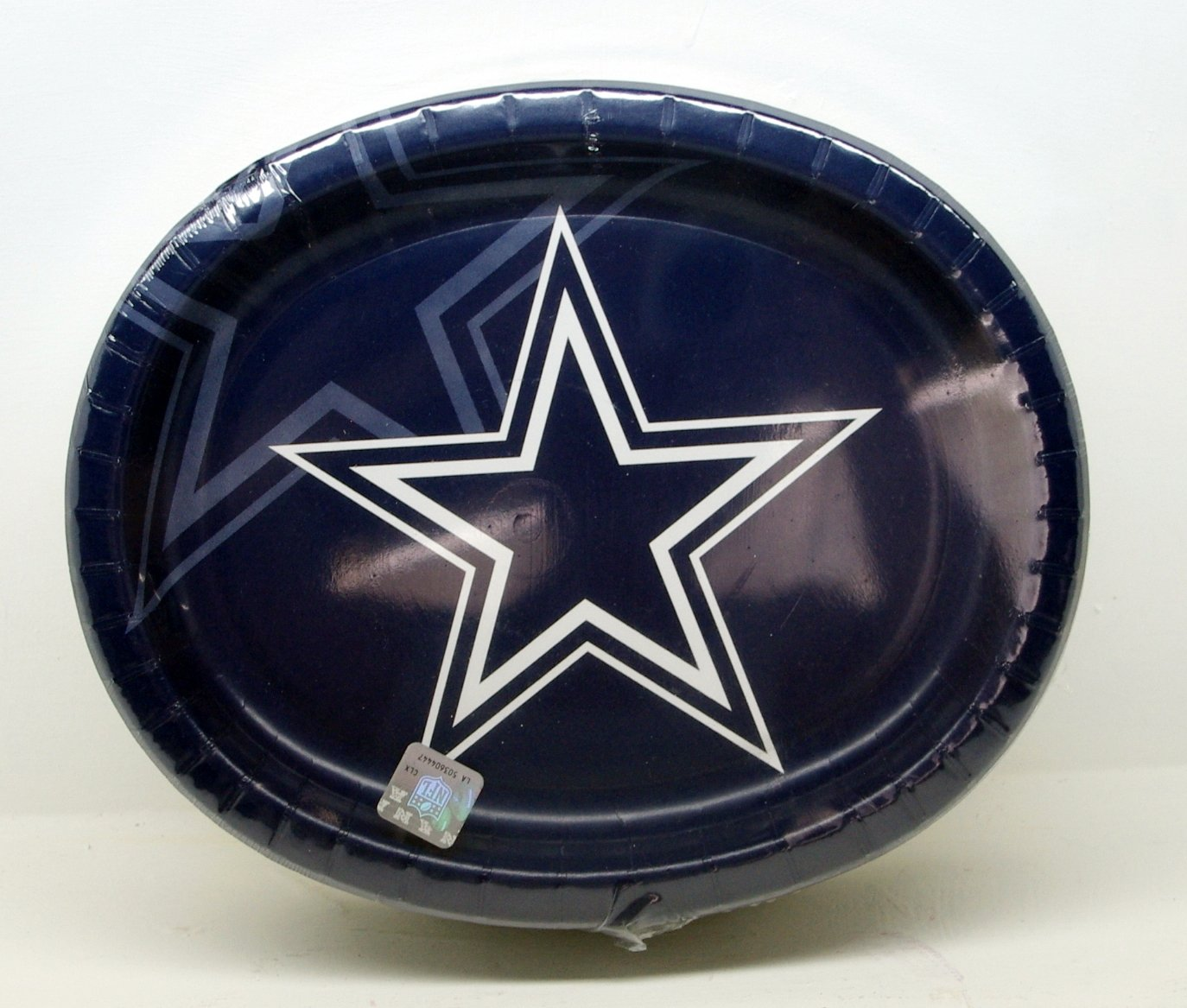 Dallas Cowboy Football GameDay/Tailgate Sturdy Oval Paper Plates 50 Ct.