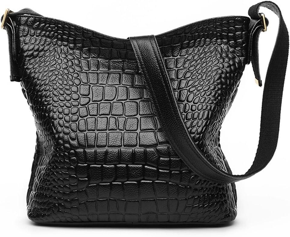 GAOYANG Leather Handbag Messenger Bag Female Soft Leather Large Capacity Crocodile Shoulder Diagonal Bag