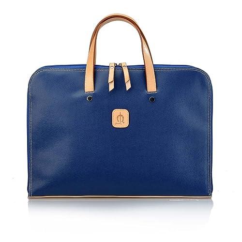 EL CABALLO Porta Documentos Azul 1001 Outlet Carpeta de mano Mujer - Carpeta para Documentos para Mujer: Amazon.es: Zapatos y complementos