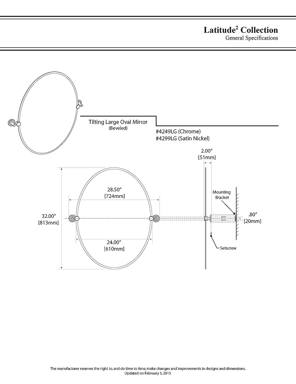 Large Oval Mirror Gatco 4299LG Latitude II