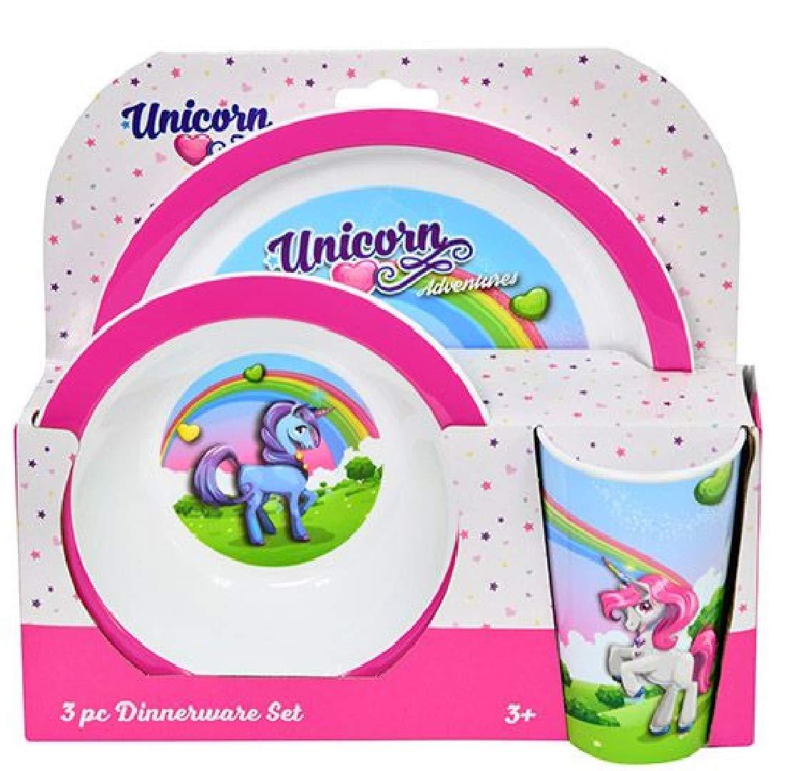 Unicorn 3pc PP Dinner Set in Open Box