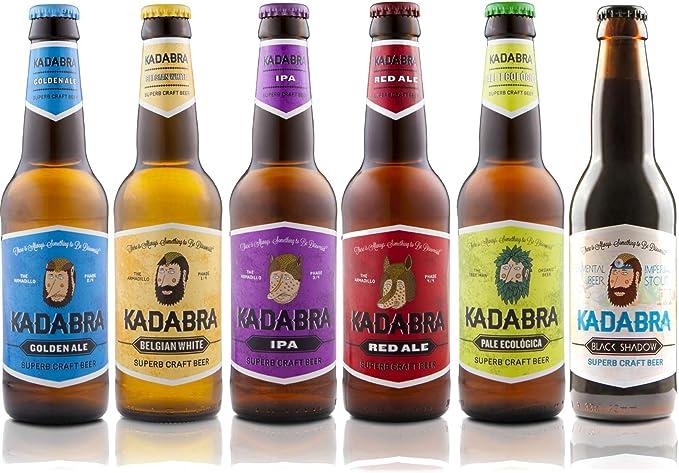 Cerveza KADABRA Pack Degustación completa 12 unidades de 33 cl: Amazon.es: Alimentación y bebidas