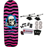 POWELL PERALTA Re-Issue Skateboard Complete OLD SCHOOL RIPPER Pink/Blue 10""