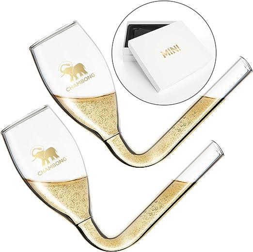 "2 Fluted Gold Champagne Glasses 1/"" Details 24 Mini Plastic Wedding Favors"