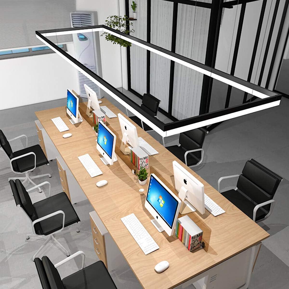 Abh/ängung 120 cm Panellampe mit Fernbedienung 54 Watt B/ürodeckenleuchte LED Pendelleuchte B/üro H/öhenverstellbar B/ürolampen Dimmbar Pendellampe Design Arbeitszimmer H/ängeleuchte