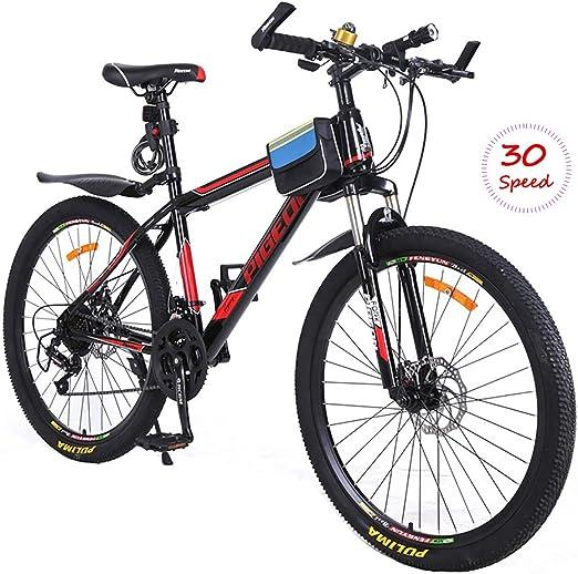 PXQ Adultos Doble Frenos de Disco Bicicleta de montaña 26 Pulgadas ...