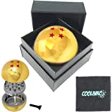 COOLINKO Dragon Ball Z Grinder Gold Metallic 4-Star for Herb /& Spices with Catcher and Gift Box