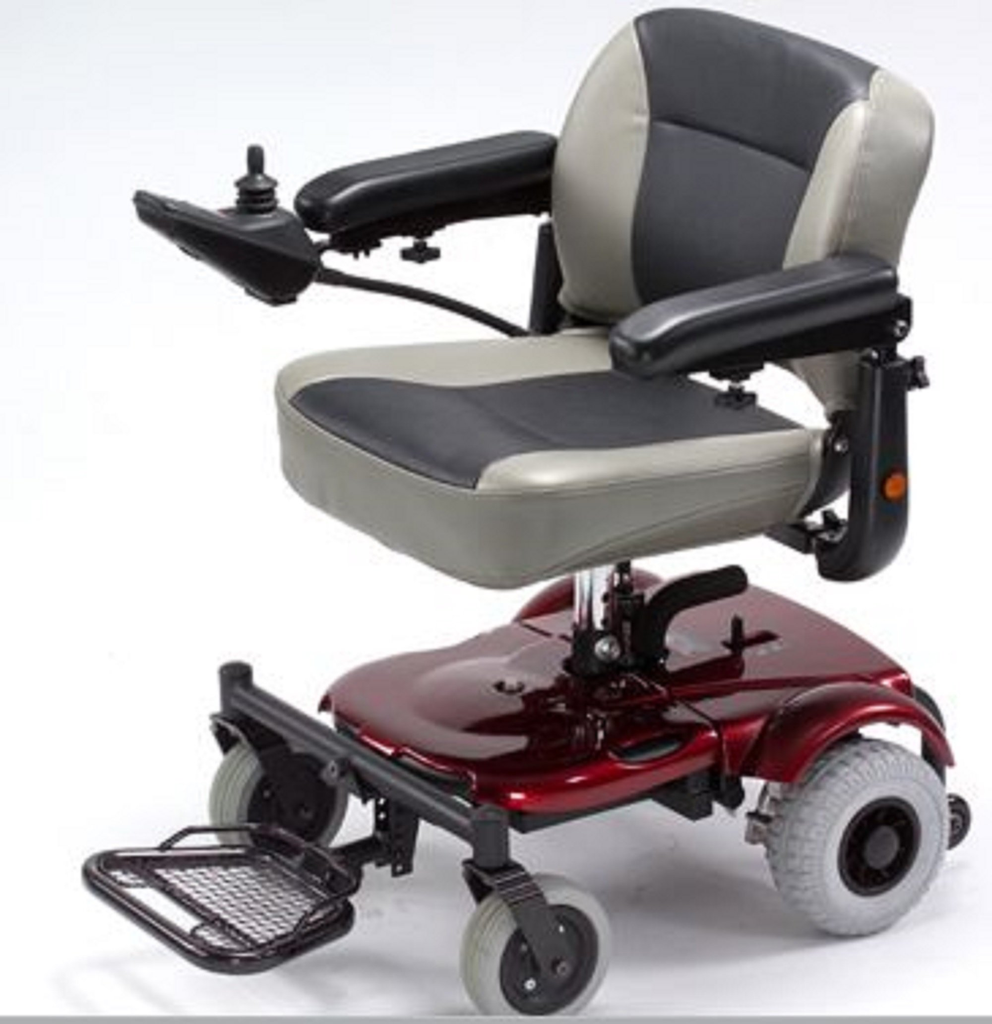 Merits Health Products - EZ-GO- Travel Power Chair - 18''W x 15''D - Red