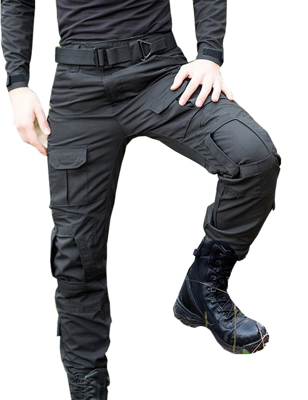 Yollmart Men's Military-Style Army Cargo Pants Outdoors Pants US 31=Tag 32