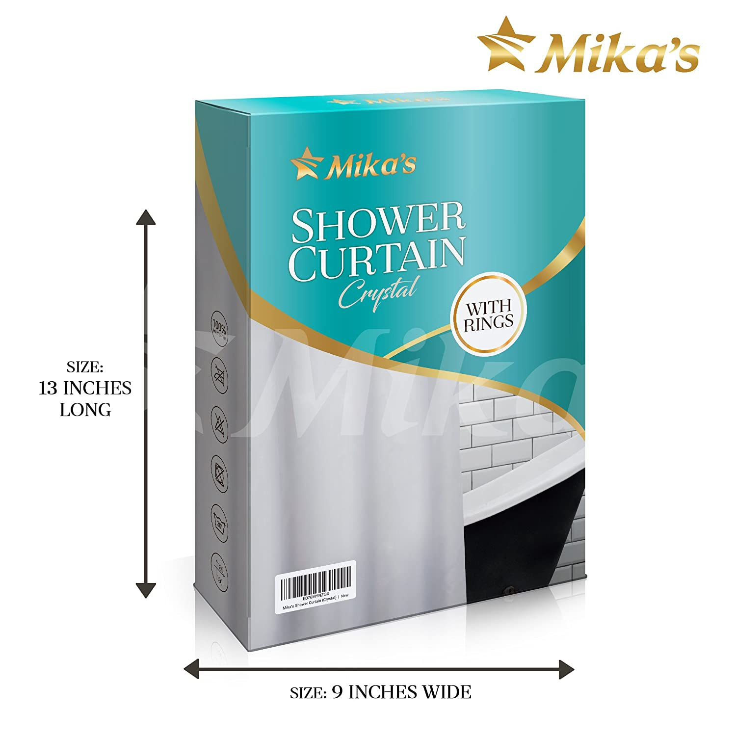 Amazon.com: Waterproof, White Shower Curtain Liner – Mold and Mildew ...