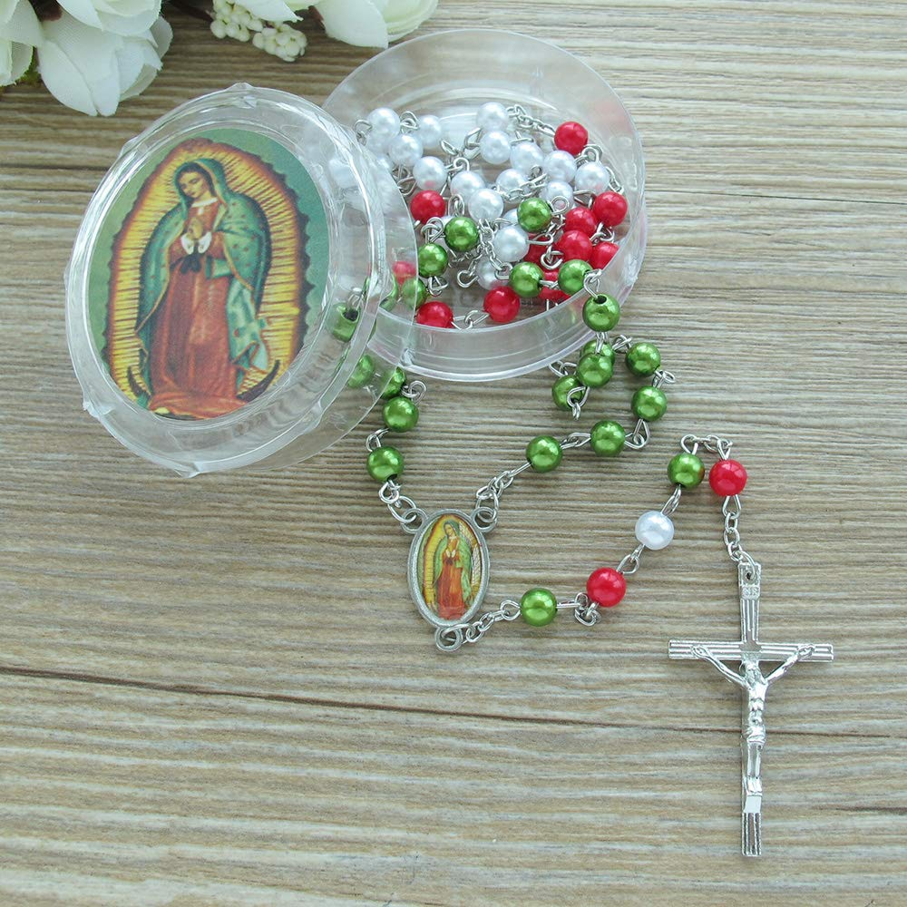 Amazon.com: Rosario con estuche de Nuestra Señora de ...