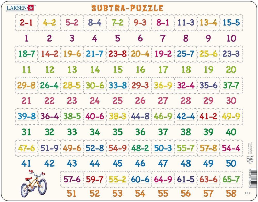 Larsen Subtra - Puzzle (Subtraktion) Schulbuchhandlung Sieboldt AR7 Kinderpuzzles