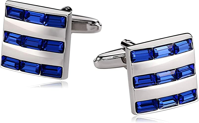 Blisfille 2 Pieza Gemelos Acero Inoxidable Azul Gemelos ...