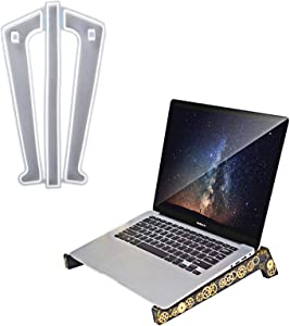 Laptop Stand Resin Molds,Detachable Stand Silicone Mold,Ergonomic Crystal Laptop Stand Mold for Desk,Laptop Riser Notebook Holder Compatible with MacBook Pro Air, Lenovo, HP, Dell, More Laptops