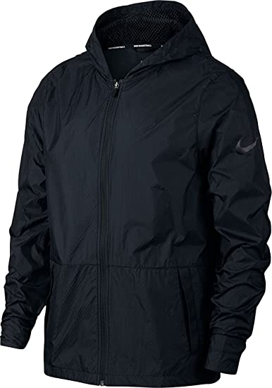 ccfdb1a93726 Nike Men s Hyper Elite All Day Full Zip Basketball Jacket -  Black Black Black