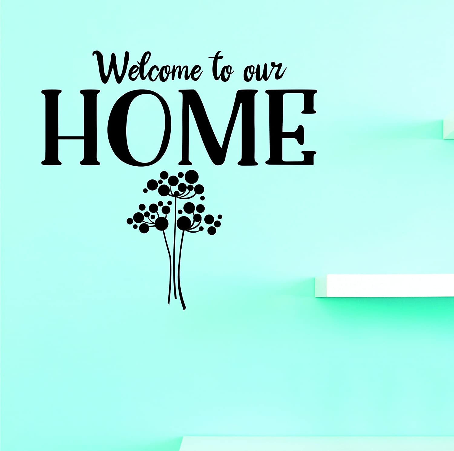Design with Vinyl JER 2049 3A Hot New Decals Welcome to Our Home Wall Art Size x 18 Inches Color Black 18 x 18