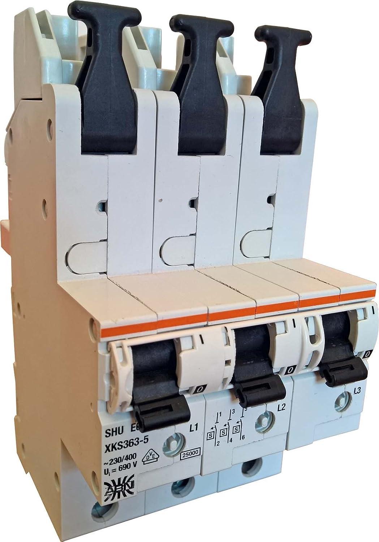 ABN SHU-Schalter XKS363-5 3-polig 63A Selektiver: Amazon.de: Elektronik