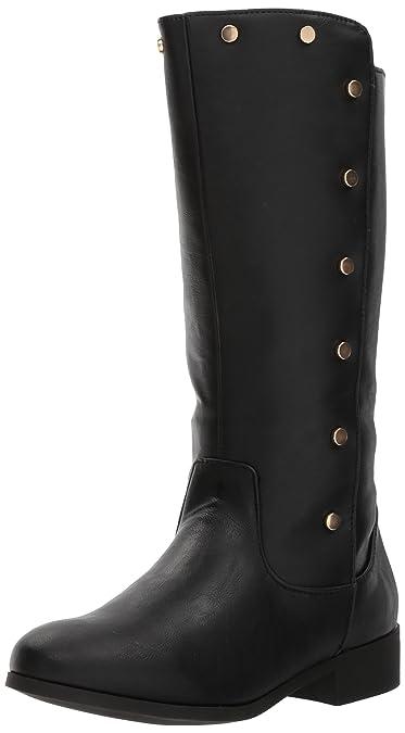 a997ea7ad61 Nine West Girls  STEPHANIAH Fashion Boot Black Smooth 13 Medium US Little  Kid
