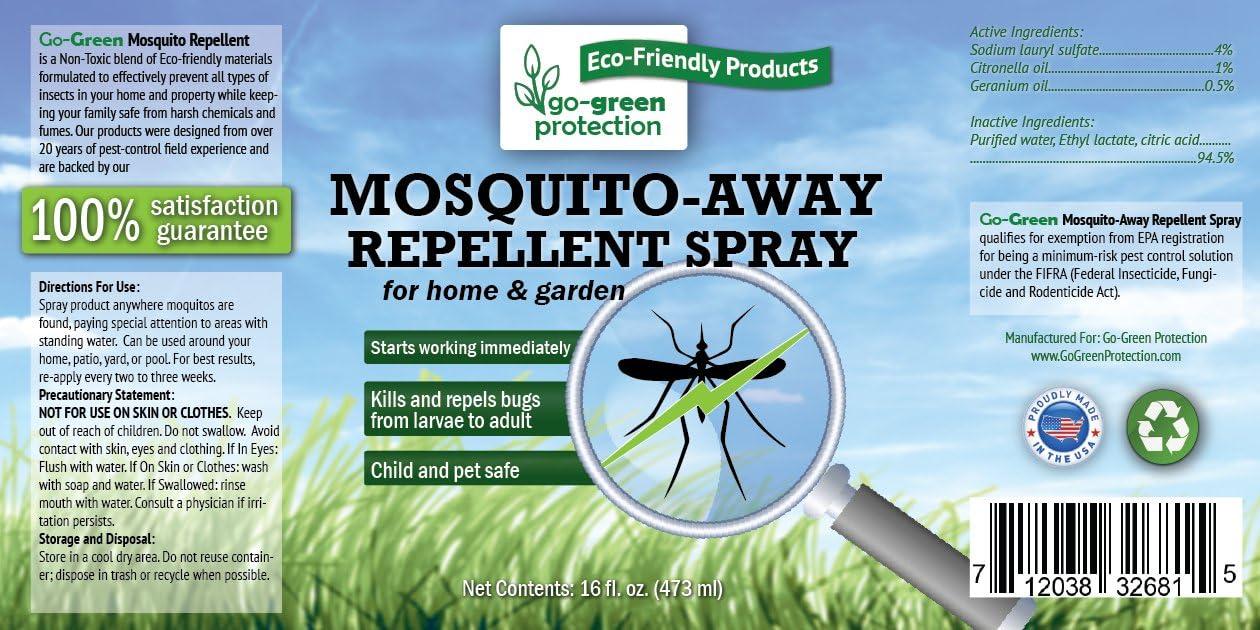 Go-Green – Repelente de mosquitos naturales, biodegradable, no ...