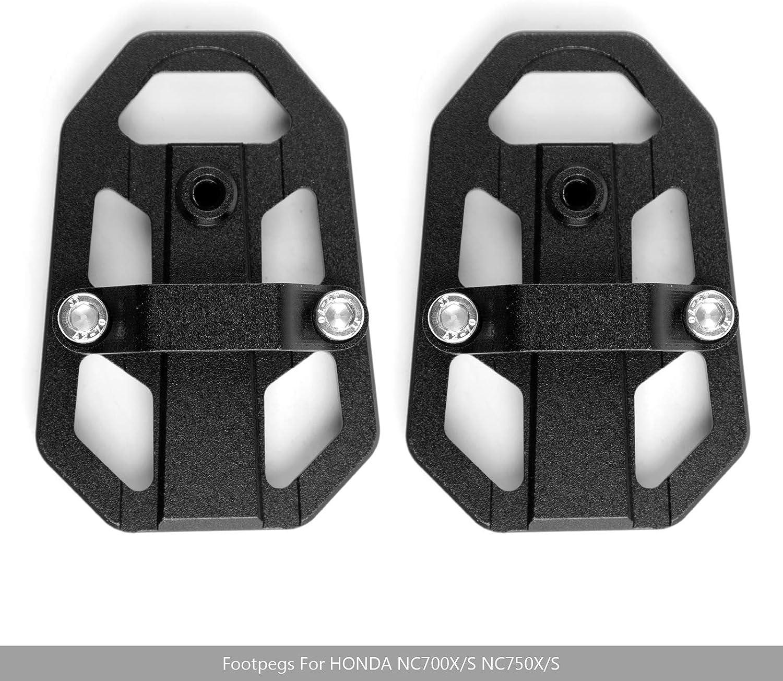 Front Passenger Foot Peg Bracket Footrest Foot Pegs for H-O-N-D-A NC750X//S 2014-2018 NC700X//S 2012-2014 Artudatech Motorbike Foot Rest