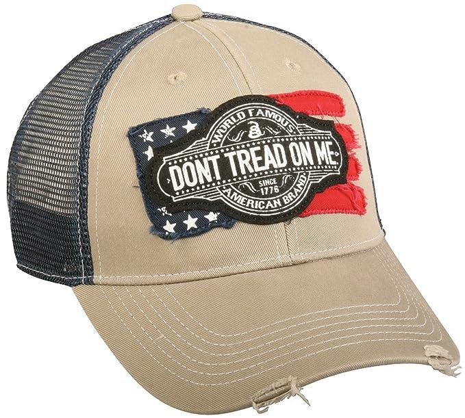449d3f73df5 Image Unavailable. Image not available for. Color  Don t Tread On Me  Hat quot Vintage Flag quot  Vintage Cap For Men
