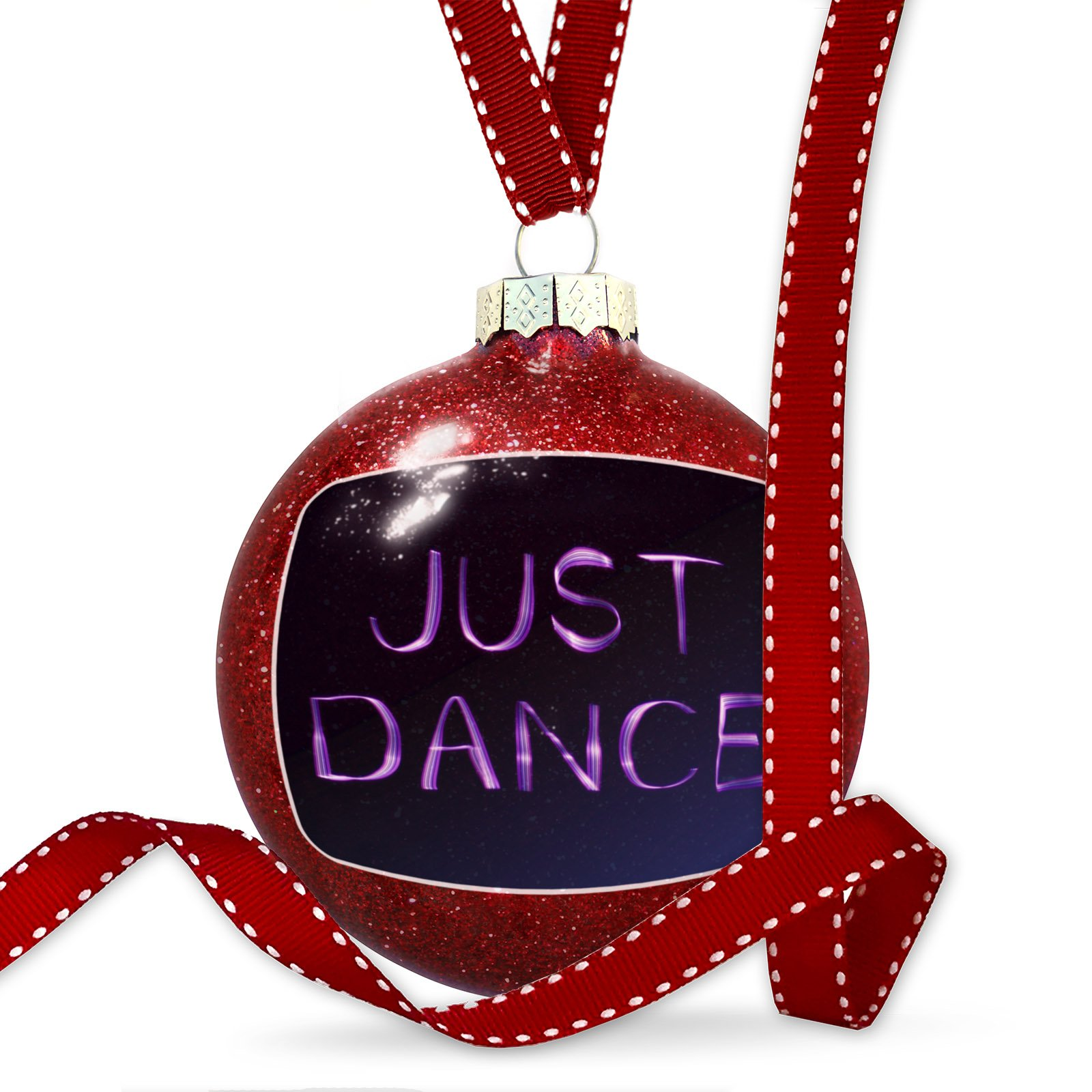 Christmas Decoration Just Dance Purple Lights at night Ornament