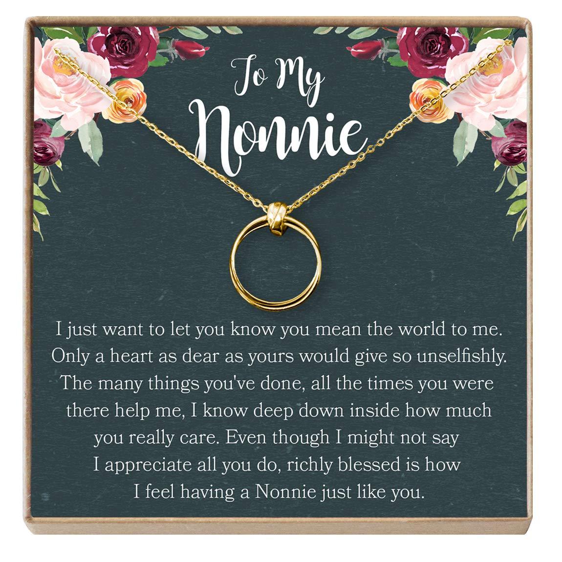 for Grandma Grandmother 3 Asymmetrical Circles Dear Ava Nana Gift Necklace: Nana Jewelry