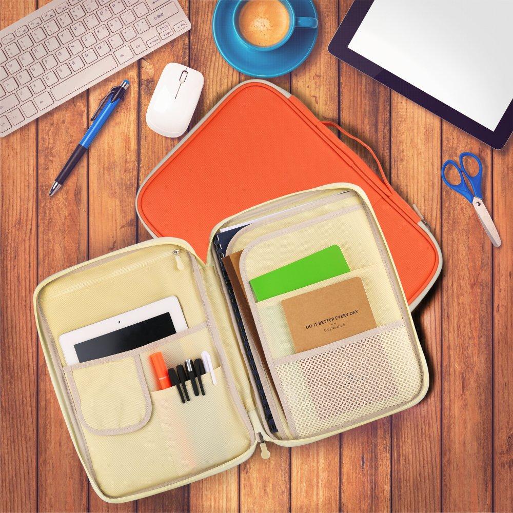 documenti e penne Portadocumenti formato A4 Custodia da viaggio multifunzione con cerniera per notebook YOUSHARES arancione iPad