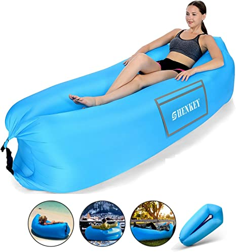 Bahob/® Air Sofa Foldable Inflatable Lounger Couch Air Lounger Lazy Sofa with Carry Bag,Hammock Inflatable Mattress Portable,Water Proof/& Anti-Air Leaking Design