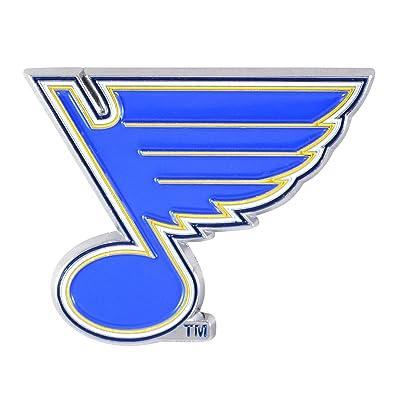 """FANMATS NHL - St. Louis Blues Metal 3D Color Emblem 3""""x3.2"""": Automotive"""