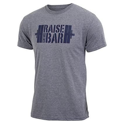 e777e7ad14aa92 Amazon.com: Jumpbox Fitness Raise the Bar - Gray - Men's Barbell  Weightlifting Triblend Workout T-shirt: Clothing