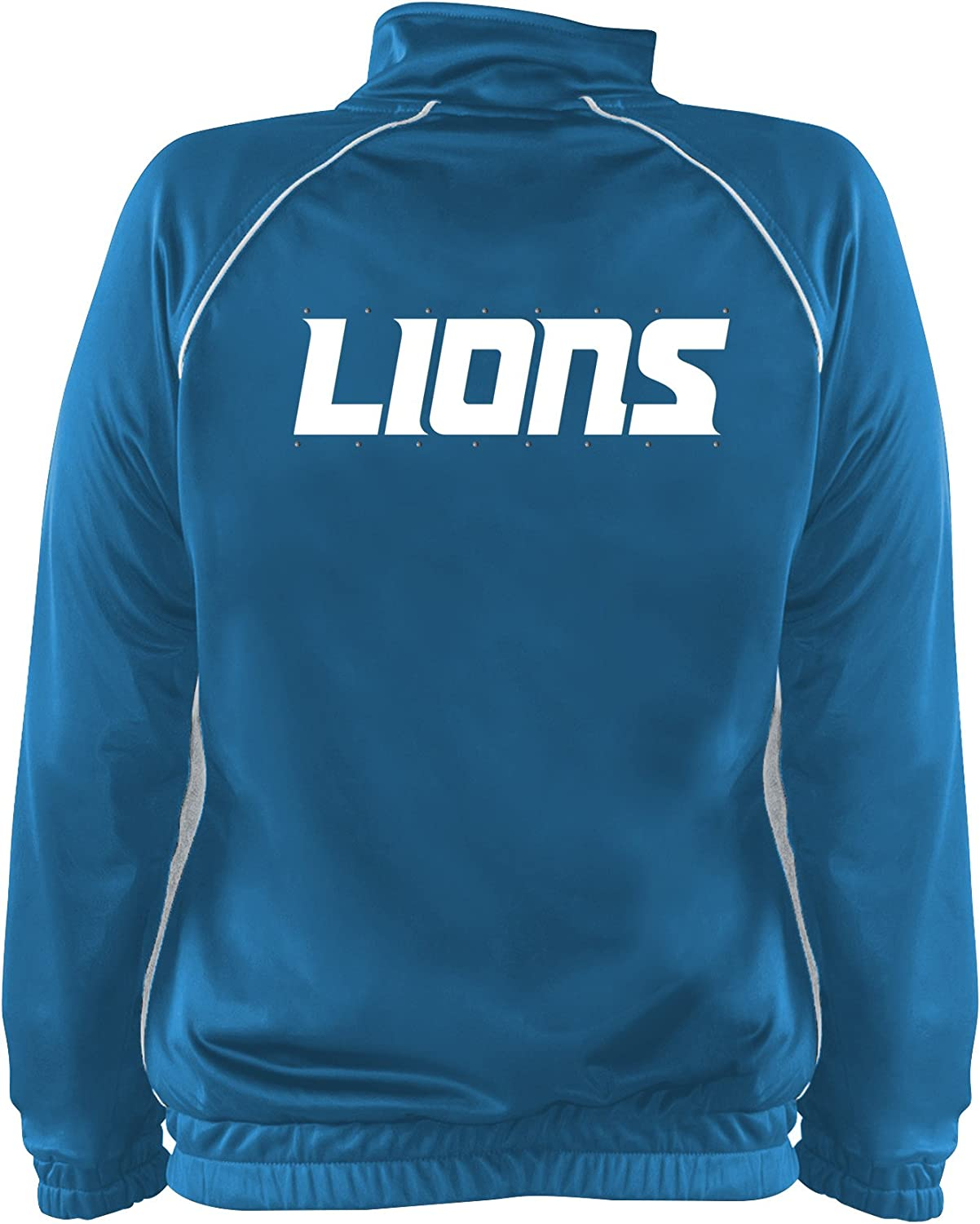 NFL Team Apparel NFL Womens Lions Poly Tricot Track Jacket