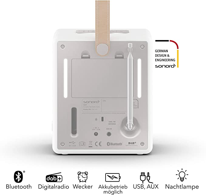 Sonoro Easy Digital Radio Mit Bluetooth Weiß 2020 Elektronik