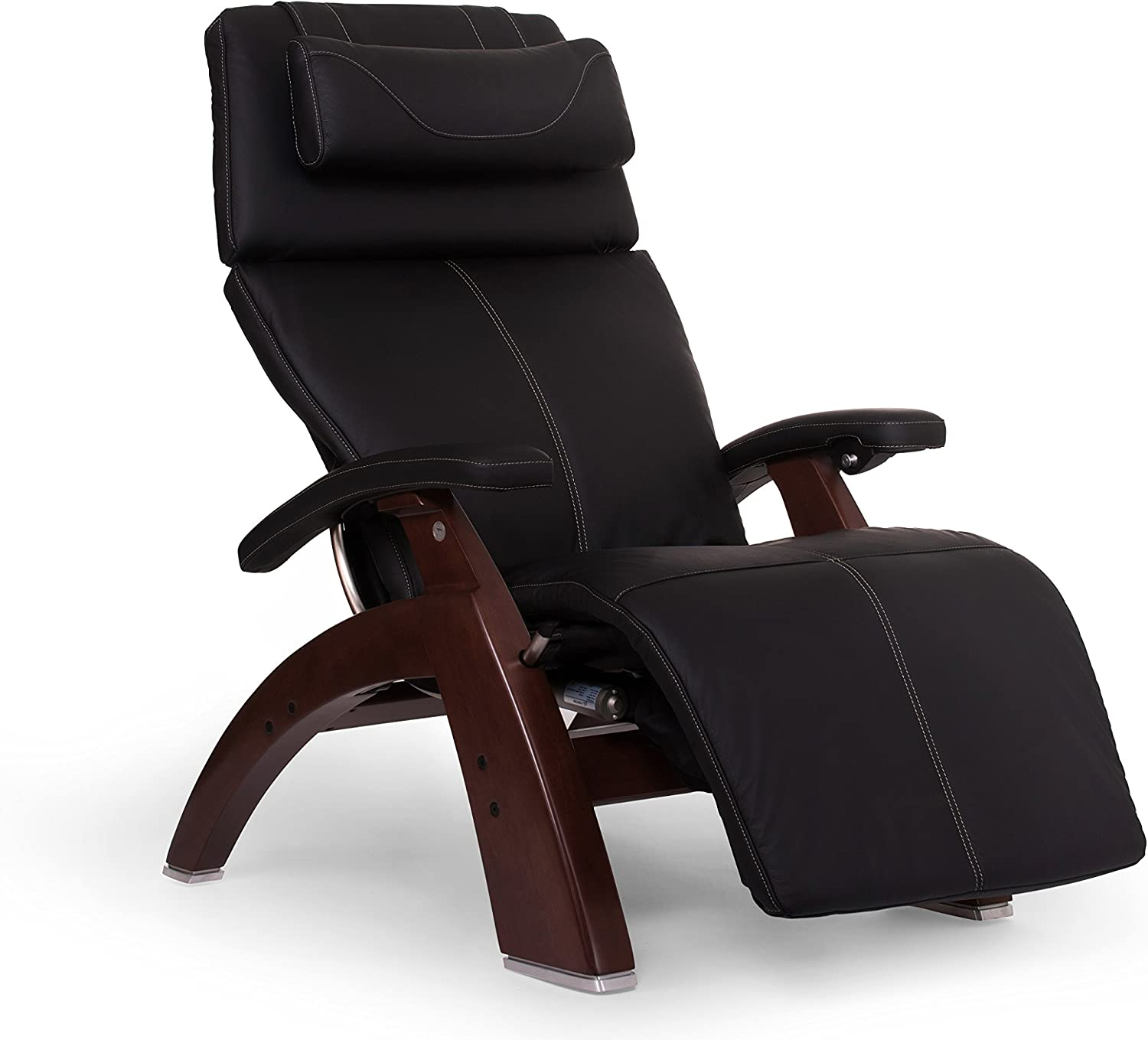 "Perfect Chair ""PC-610 Omni-Motion Classic"" Top Grain Leather Zero Gravity Recliner, Black"