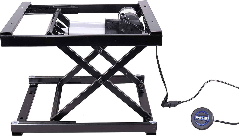 ECLV Electric Hydraulic Manual Control Platform Scissor Desk Black Lawn Mower Lift Table