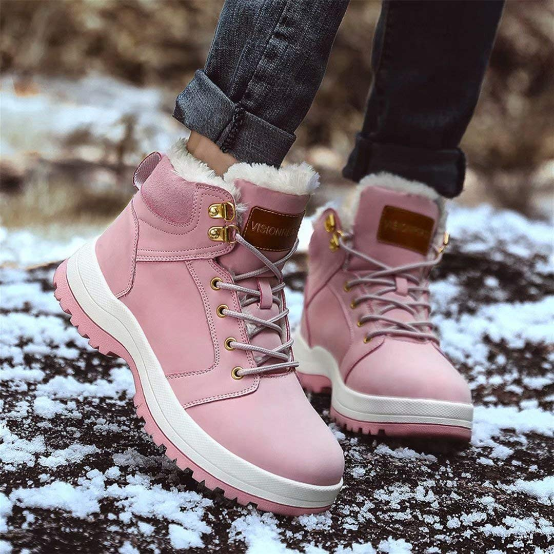 VISIONREAST Men Womens Snow Boots Waterproof Insulated Outdoor Hiking Shoes Fur Lined Warm Winter Boots