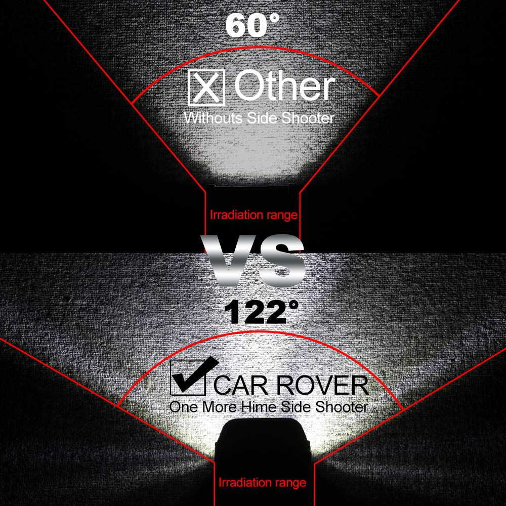 SUV Deux C/ôt/és Spot LED CREE pour Camion UTV 6000K Blanc 60W Projecteur Phare de Travail Feux Antibrouillard LED 4x4 VTT Off Road Moissonneuse Pack de 2 Bateau