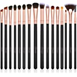 BESTOPE Eye Makeup Brushes Set, 16 Pieces Professional Cosmetics Brush, Eye Shadow, Concealer, Eyebrow, Foundation, Powder Liquid Cream Blending Brushes Set with Premium Wooden Handles