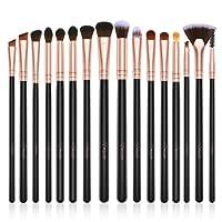 Pennelli Make Up BESTOPE Pennelli per il Trucco Set di 16 Pennelli Professionali per il Make-up, Eyeliner, Ombretto, Sopracciglia, Pennello per Fondotinta Liquido - Oro Rosa